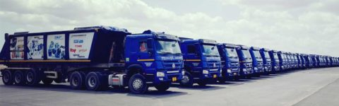 Largest fleet of Trucks with Tipping trailers In Tanzania